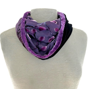 Berry Circle Scarf in Velvet Scrolls Pattern.-Sherit Levin