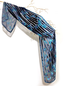 Dragonflies Scarf in black-Sherit Levin