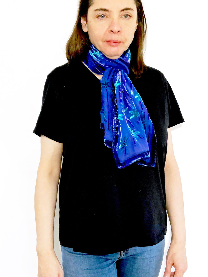 Dragonflies Scarf in Purple-Sherit Levin