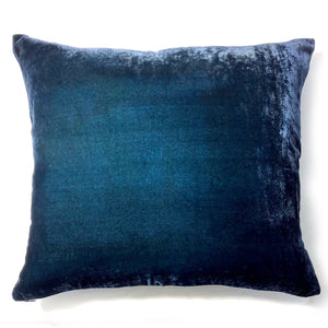 "Gingko 20"" Square Pillow Cover with Dark Blue reverse-Sherit Levin"