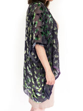 Load image into Gallery viewer, Gingko Leaves Velvet Kimono in shorter style-Sherit Levin