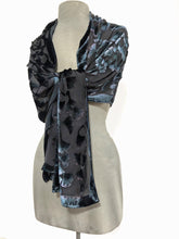 Load image into Gallery viewer, Mostly Black Velvet Scarf Wrap-Sherit Levin