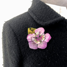 Load image into Gallery viewer, Silk Velvet Flower Pin, Hair Clip in Berry-Sherit Levin