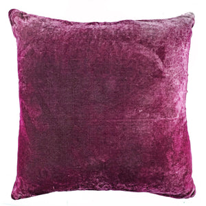 Square Patchwork Red Velvet Pillow-Sherit Levin