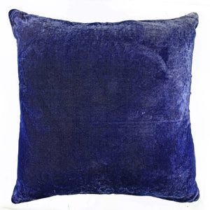 Square Purple Patchwork Velvet Pillow-Sherit Levin