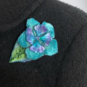 Velvet Flower Pins and Hair Clip in 4 colors-Sherit Levin