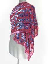 Load image into Gallery viewer, Velvet Scarf/Shawl in Coral Red-Sherit Levin