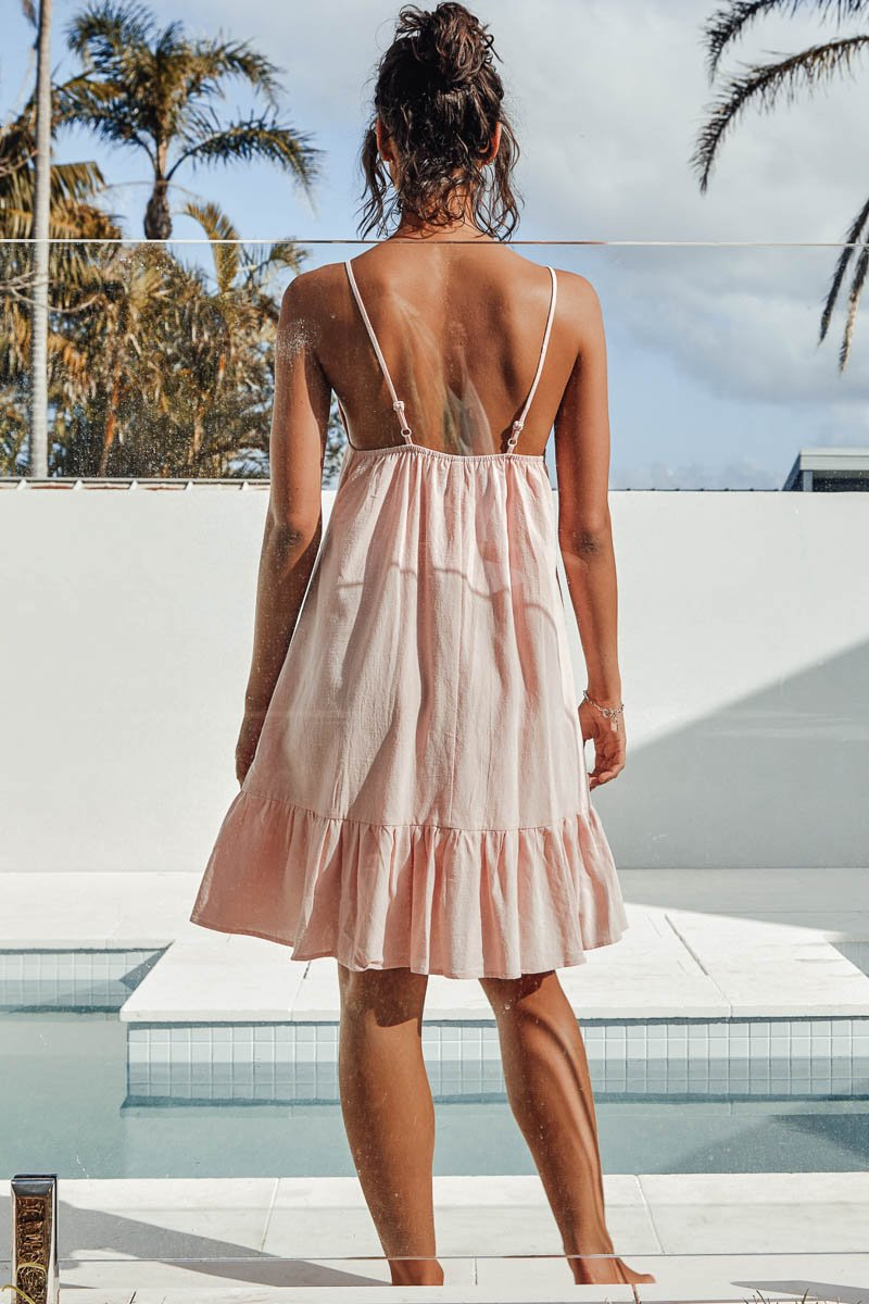 BONNIE DRESS - BABY PINK