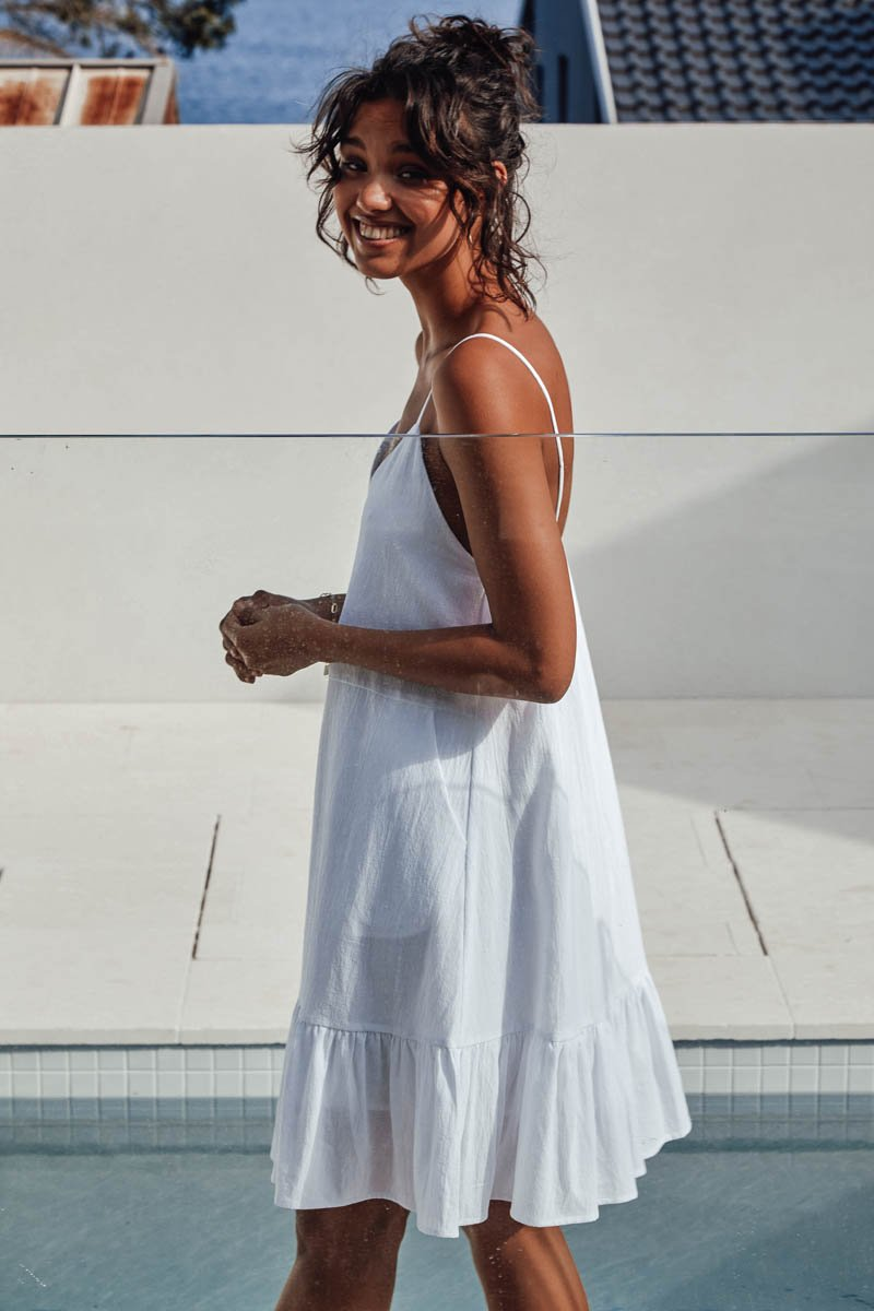 BONNIE DRESS - WHITE - PRE ORDER
