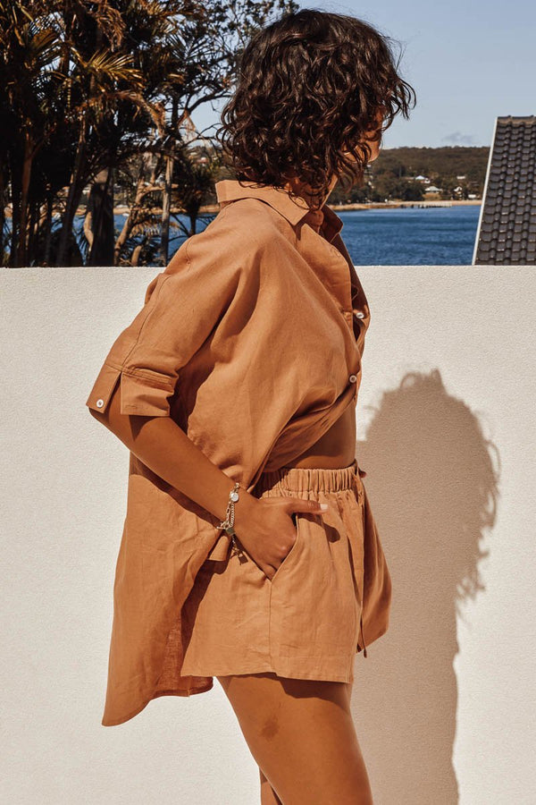 BELLA SHIRT - TERRACOTTA