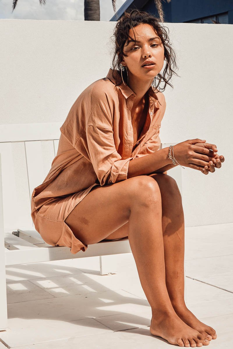 BELLA SHIRT DRESS - TERRACOTTA