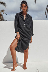 BELLA SHIRT DRESS - BLACK