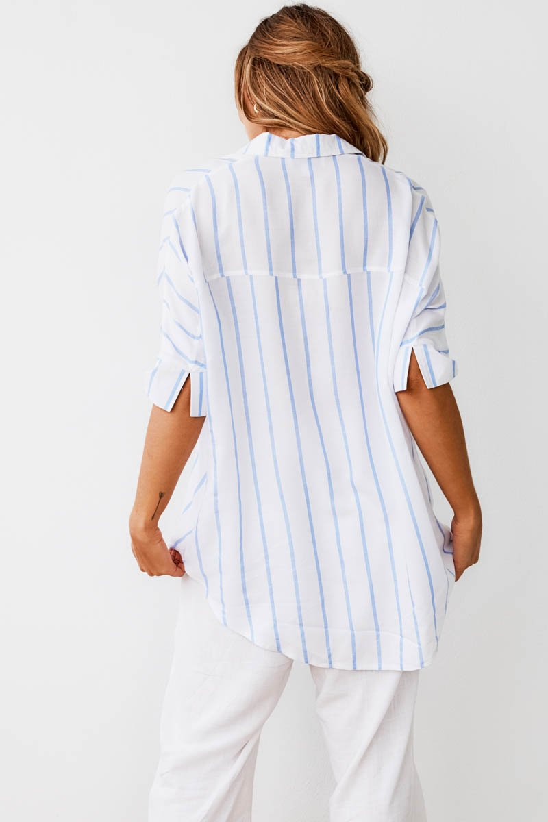 NAOMI SHIRT - BLUE STRIPE