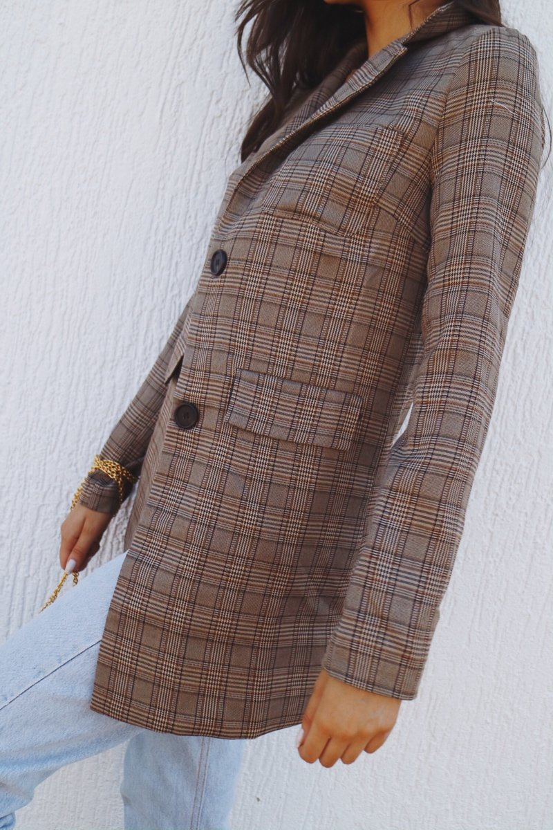 GAMES BLAZER - BROWN TWEED