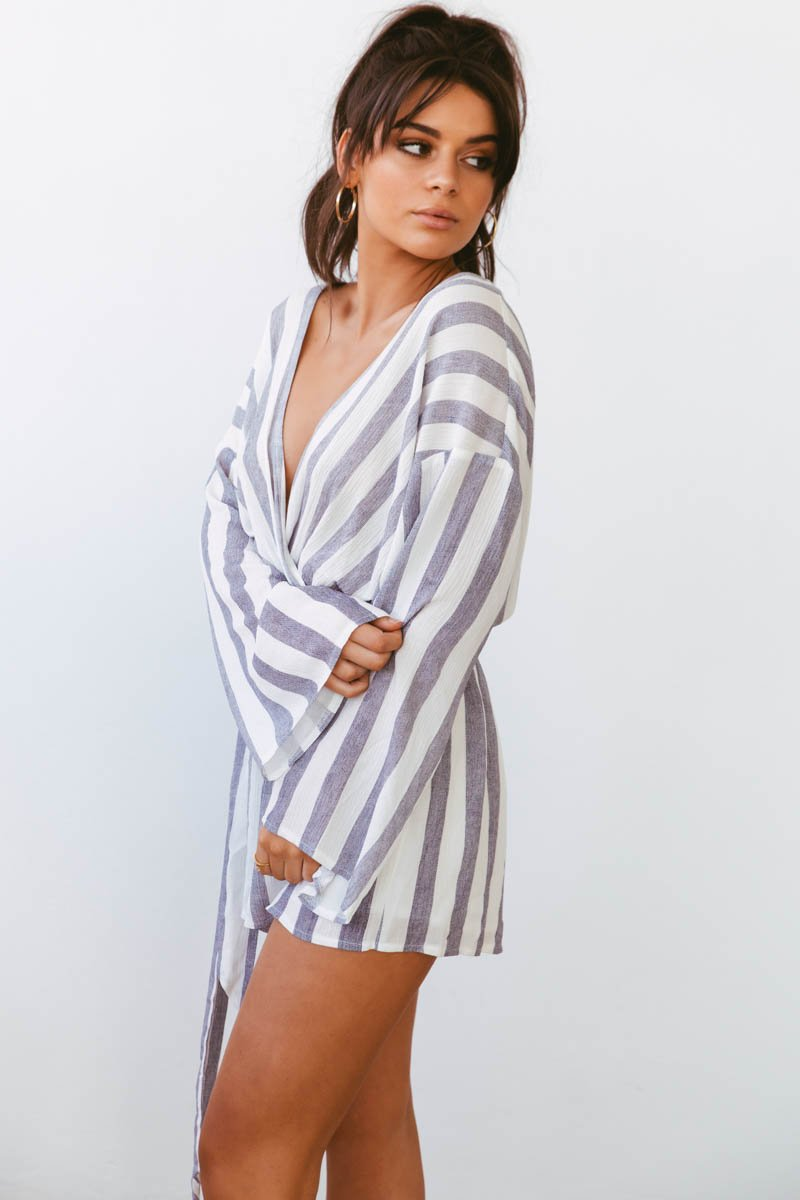 RAINE PLAYSUIT - BLUE STRIPE