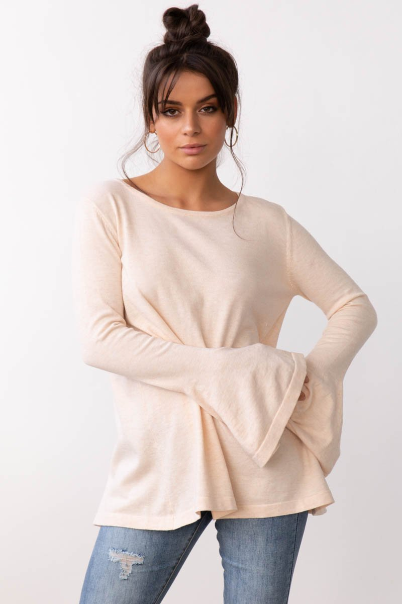 DOMINIQUE KNIT TOP - SAND