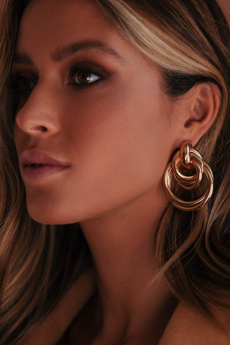 CHESKA EARRINGS - GOLD