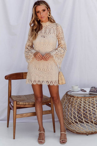 KNOWN DRESS- BEIGE