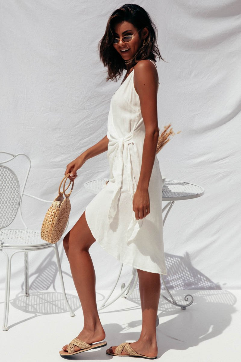 RAYZ WRAP DRESS - WHITE