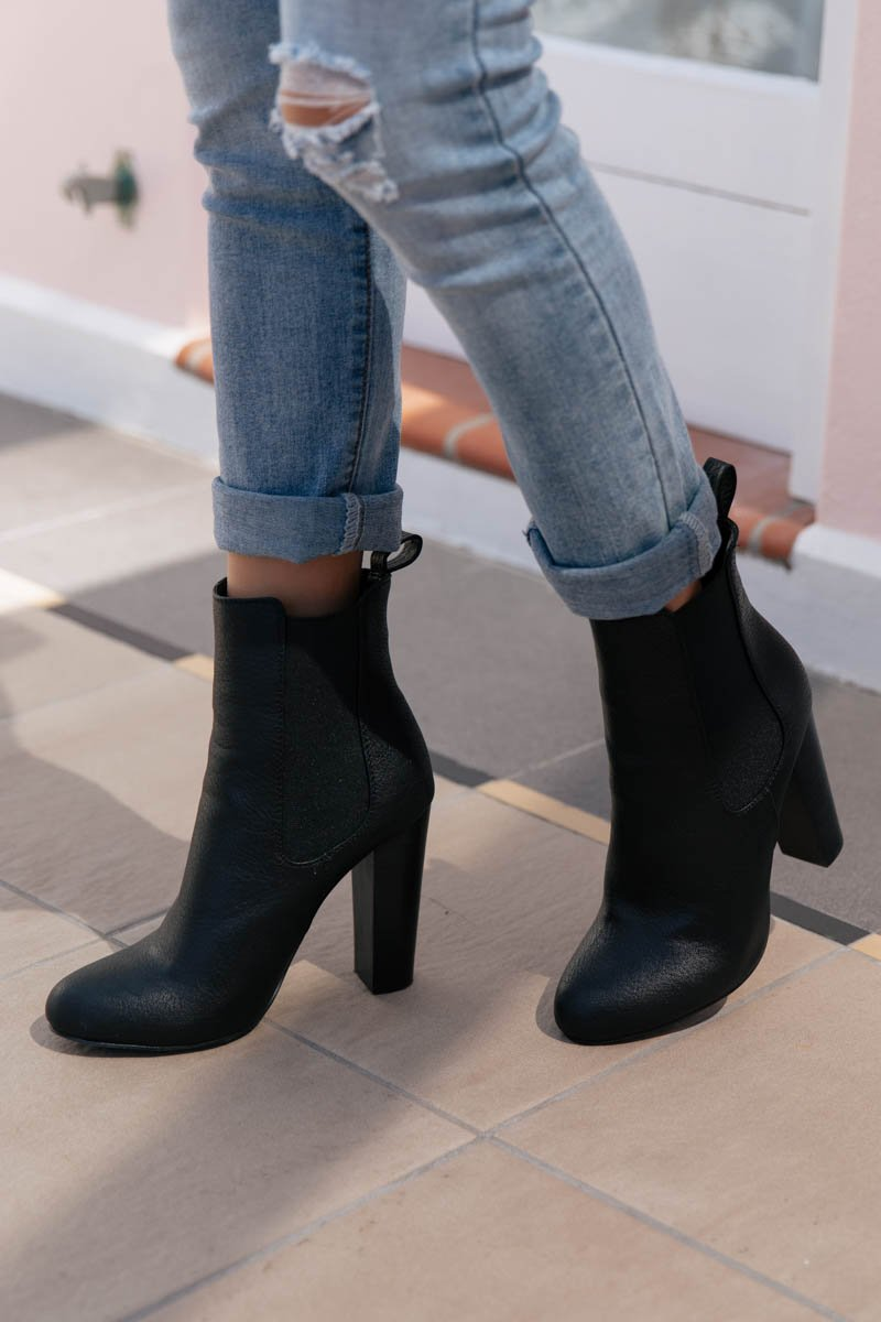 LILLIA BOOTS - BLACK TUMBLE