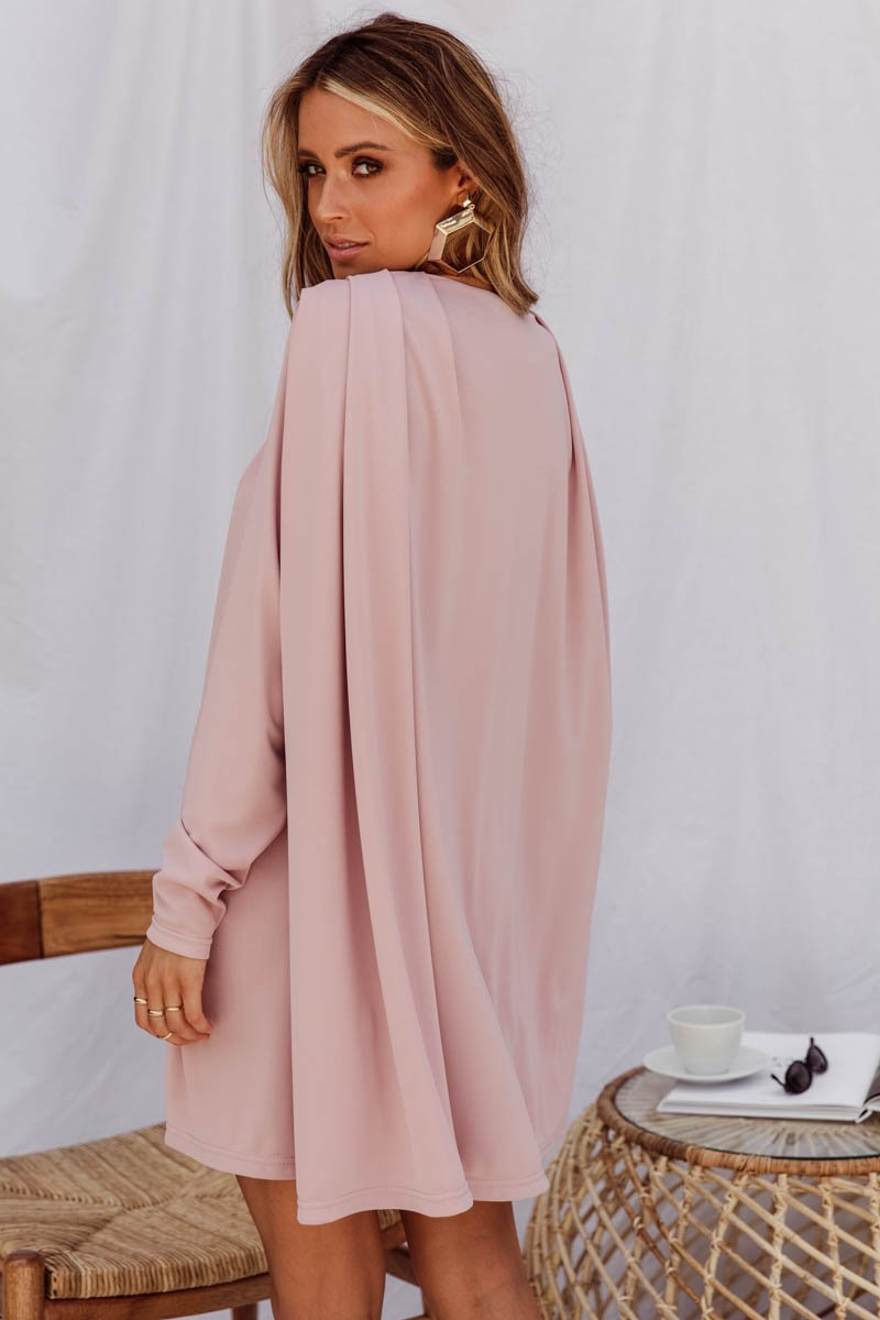 CLEOPATRA DRESS DUSTY PINK