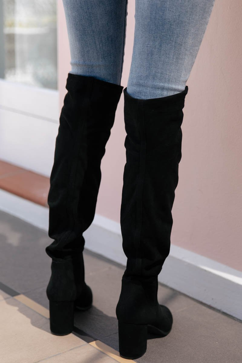 HANOVER BOOTS - BLACK STRETCH