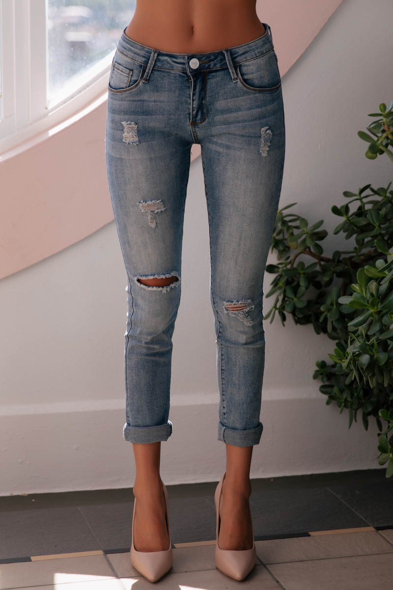 AVA JEANS - BLUE - PREORDER