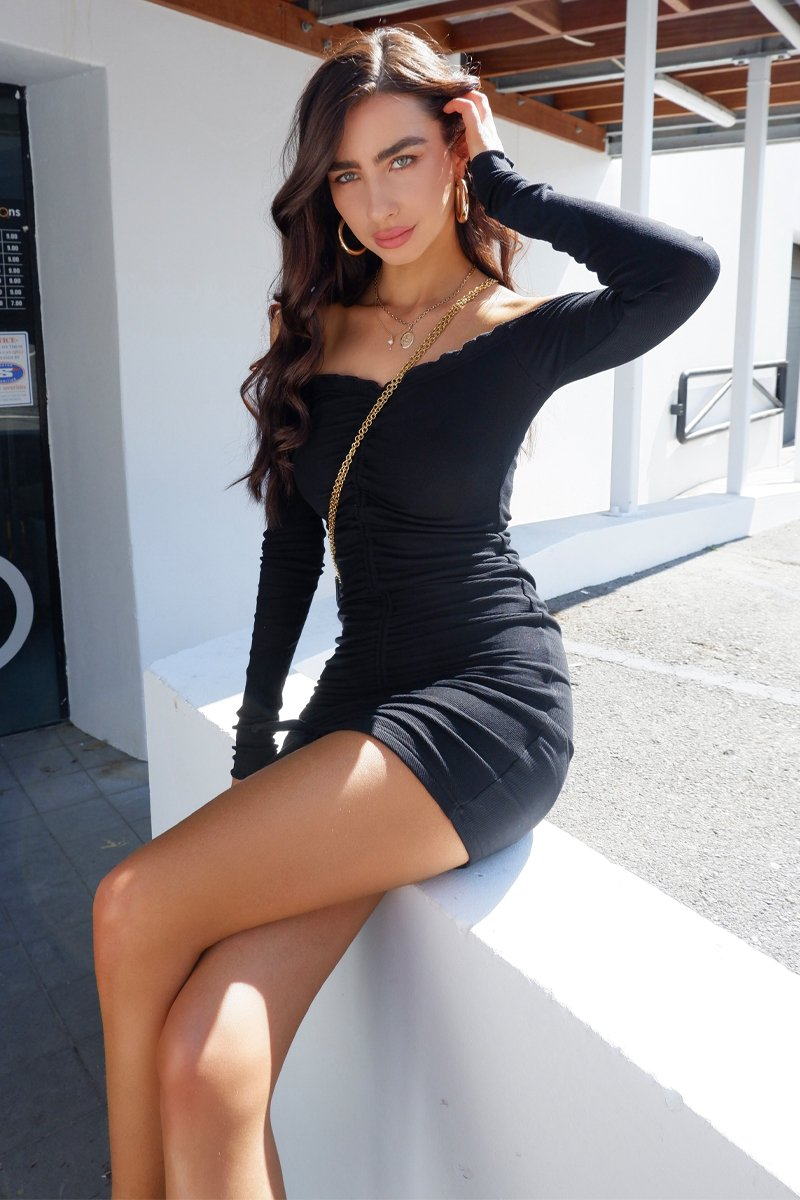 ANGELS DRESS - BLACK