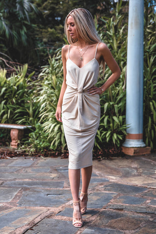 BELLA DRESS LIGHT SAND
