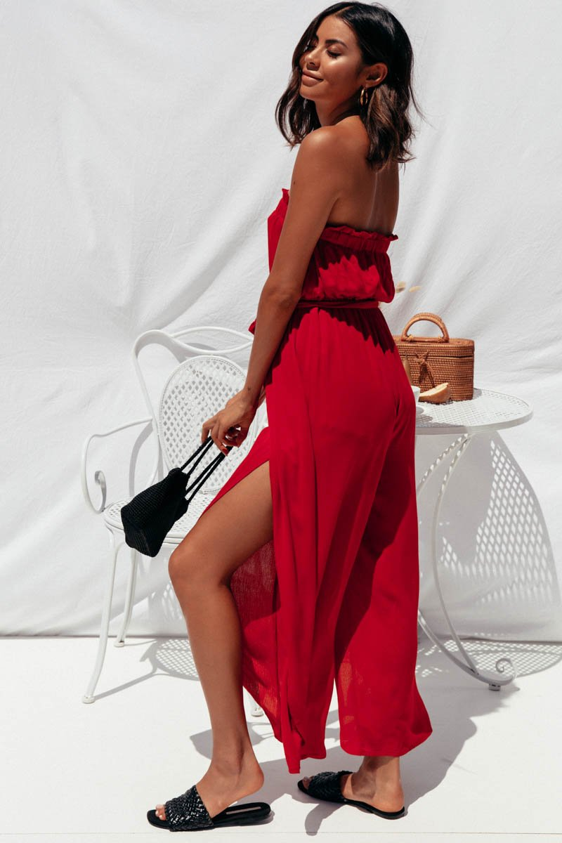 BLAKE JUMPSUIT - RED