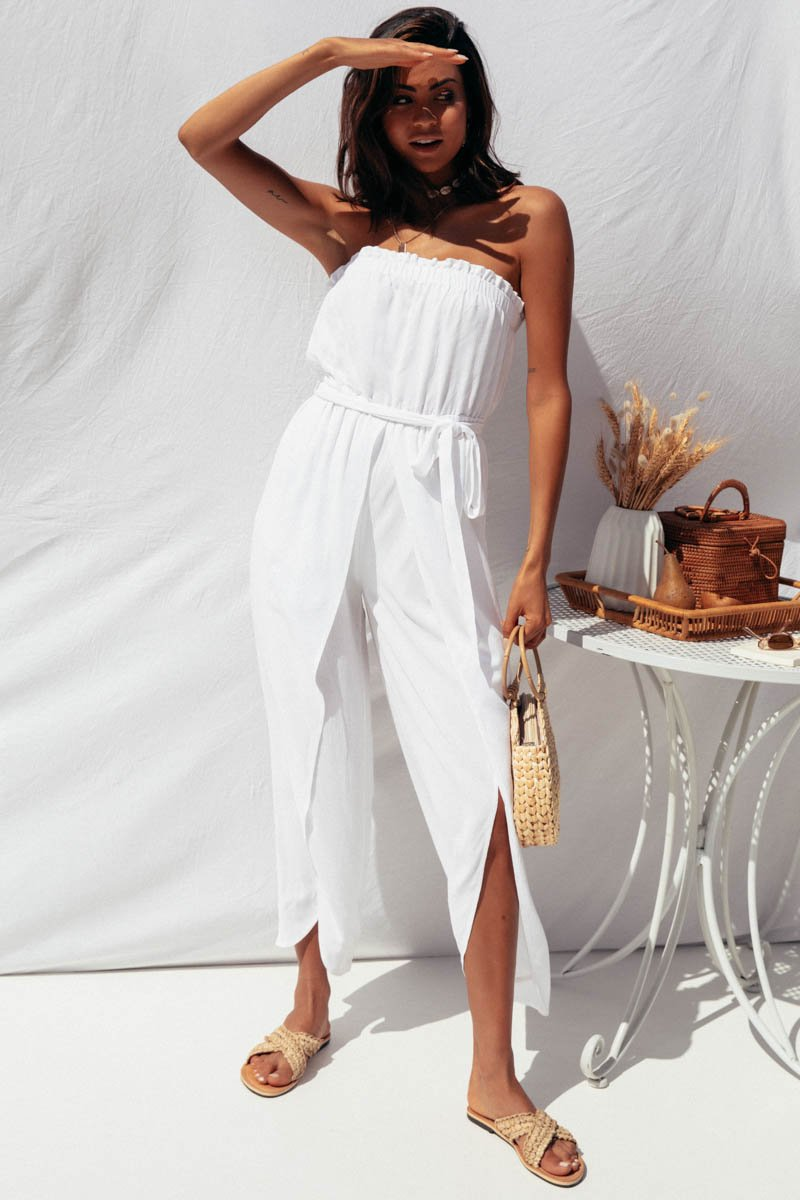 BLAKE JUMPSUIT - WHITE