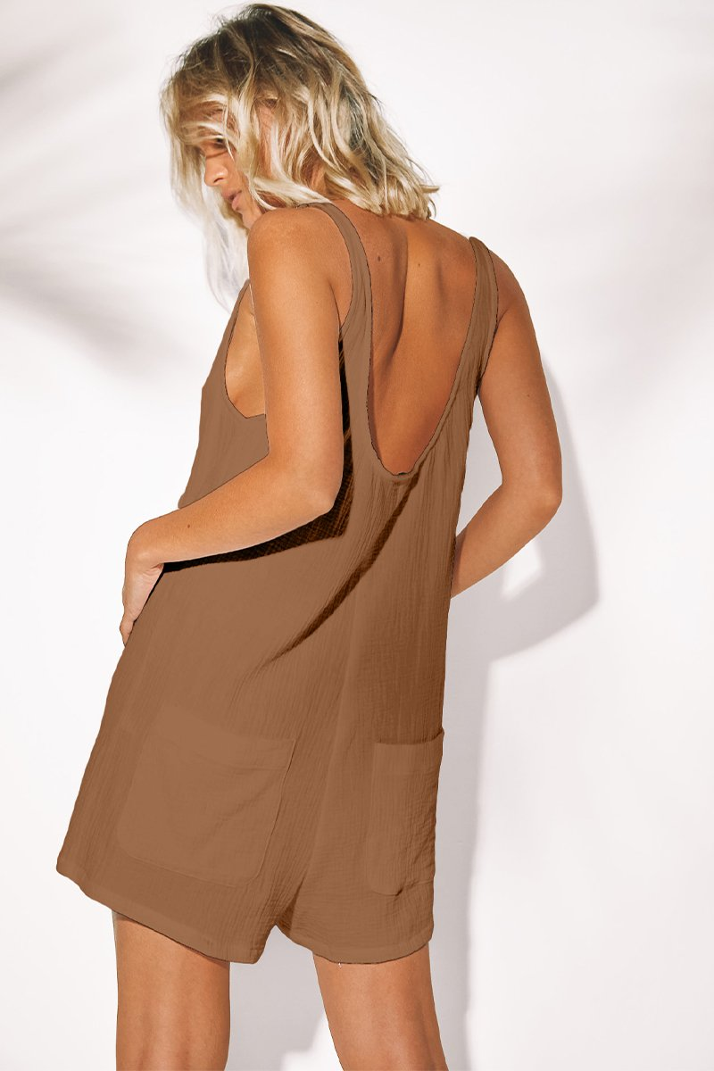 BROOKE JUMPSUIT - TAN