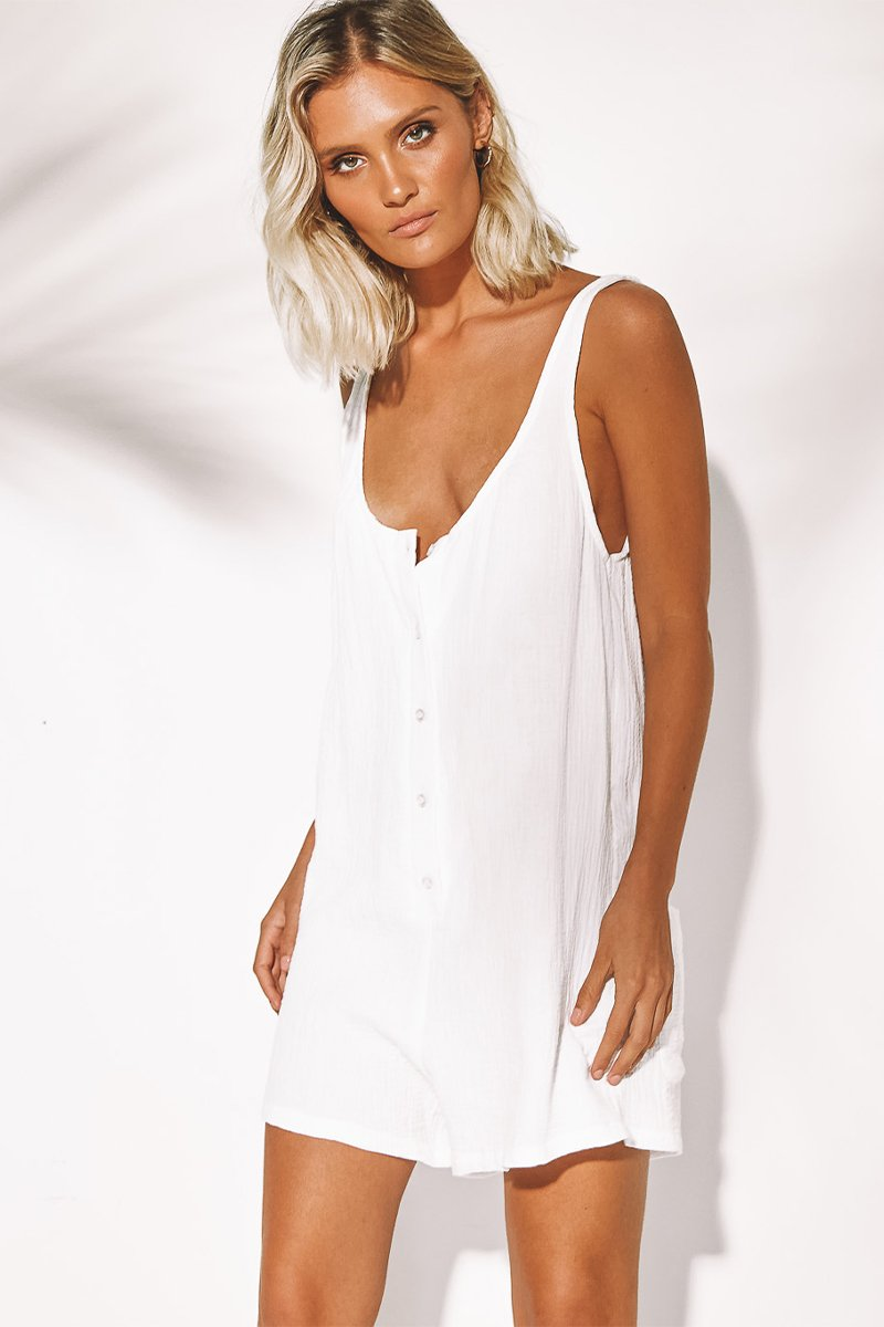 BROOKE JUMPSUIT - WHITE