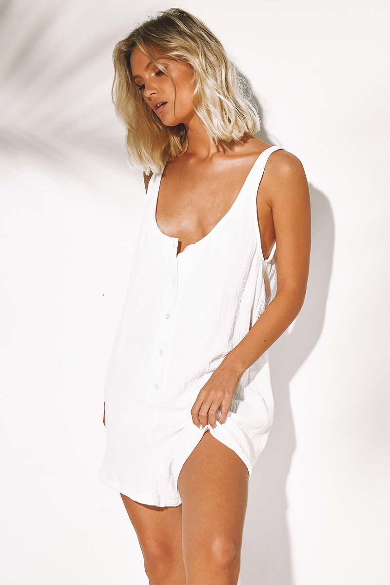 BROOKE JUMPSUIT - WHITE - PREORDER