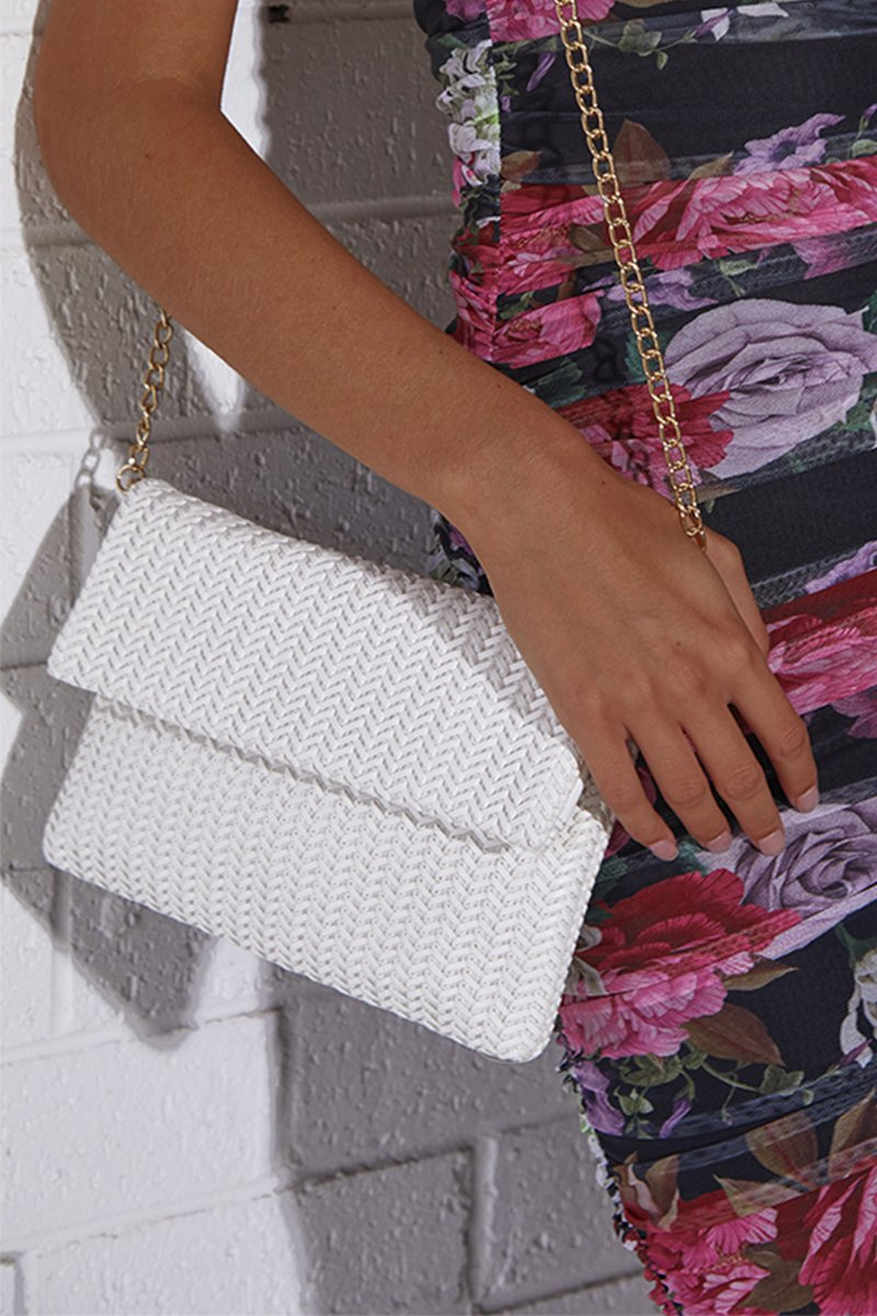 BRIONY WOVEN CLUTCH