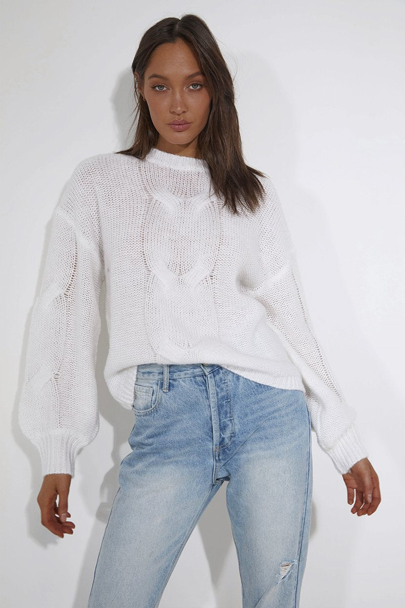 BROOKE KNIT - WHITE