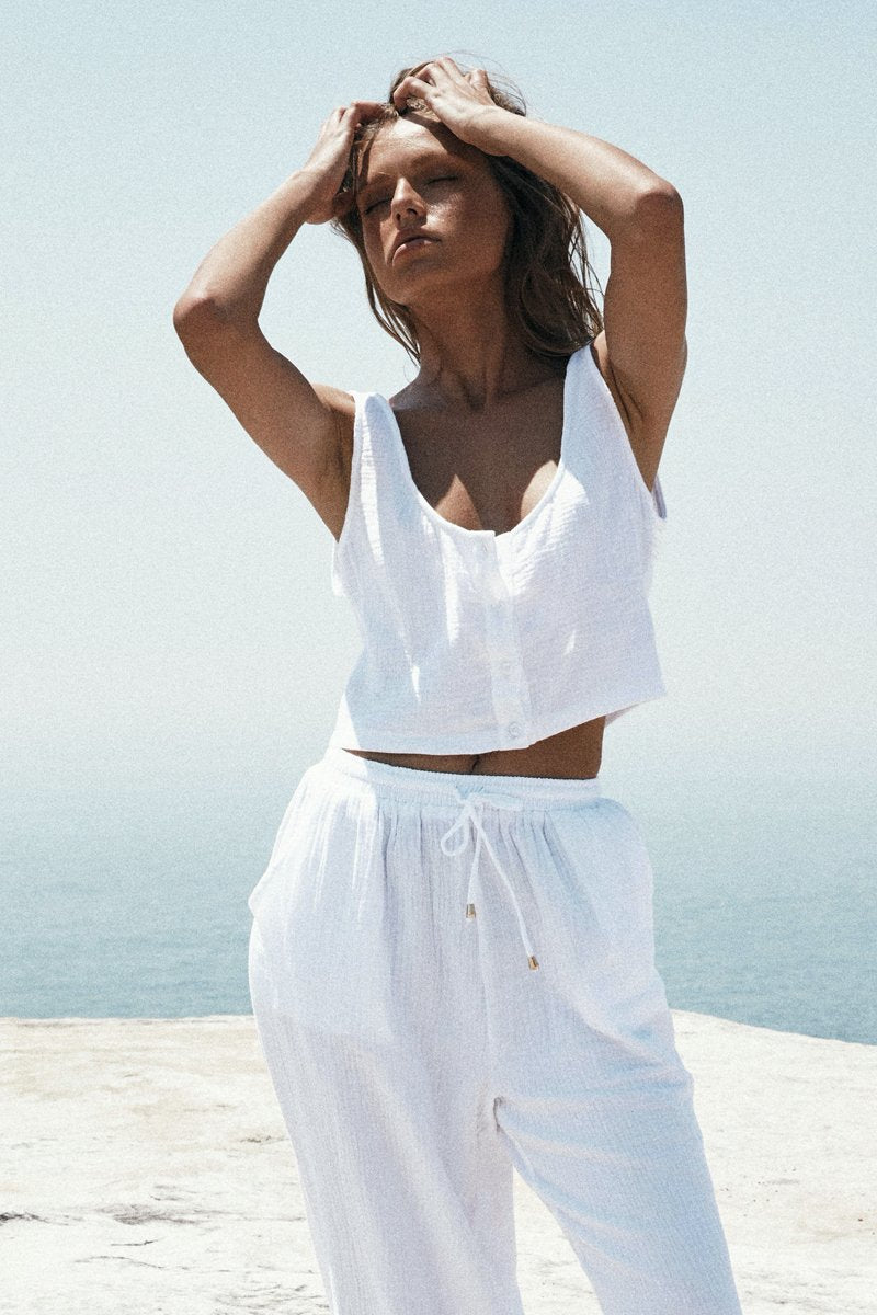 BROOKE TOP - WHITE - PREORDER