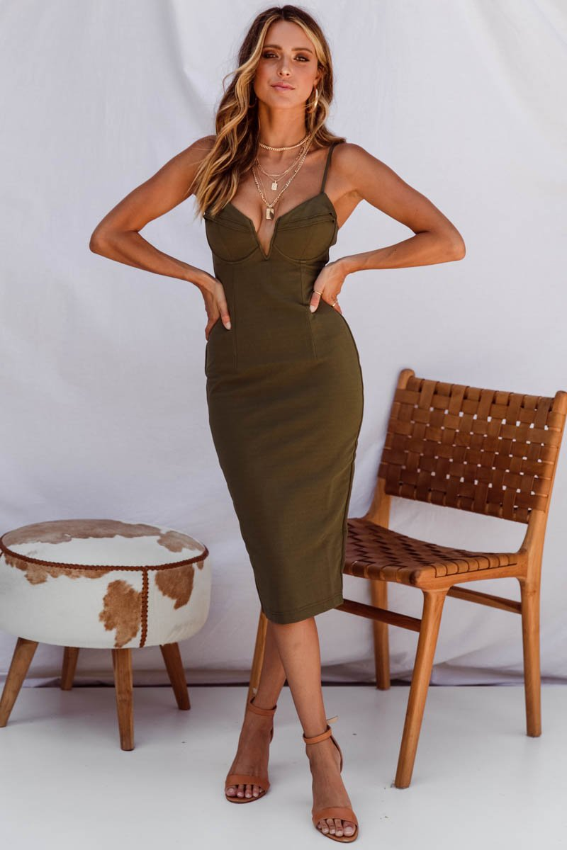 CALI DRESS - KHAKI