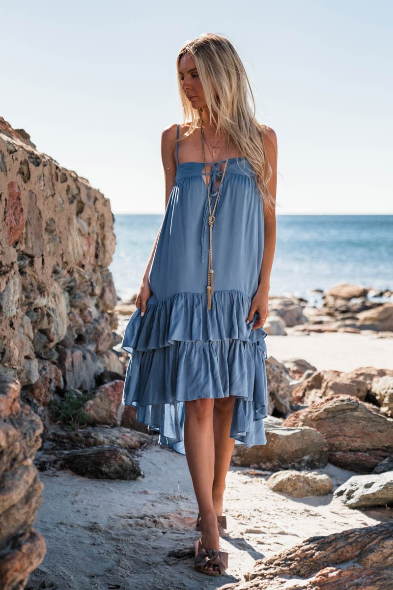 CASSIE DRESS DENIM BLUE
