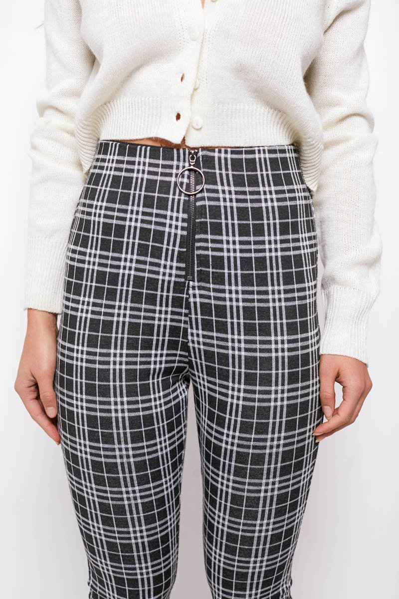 CHRISSY PANTS - BLACK/WHITE CHECK