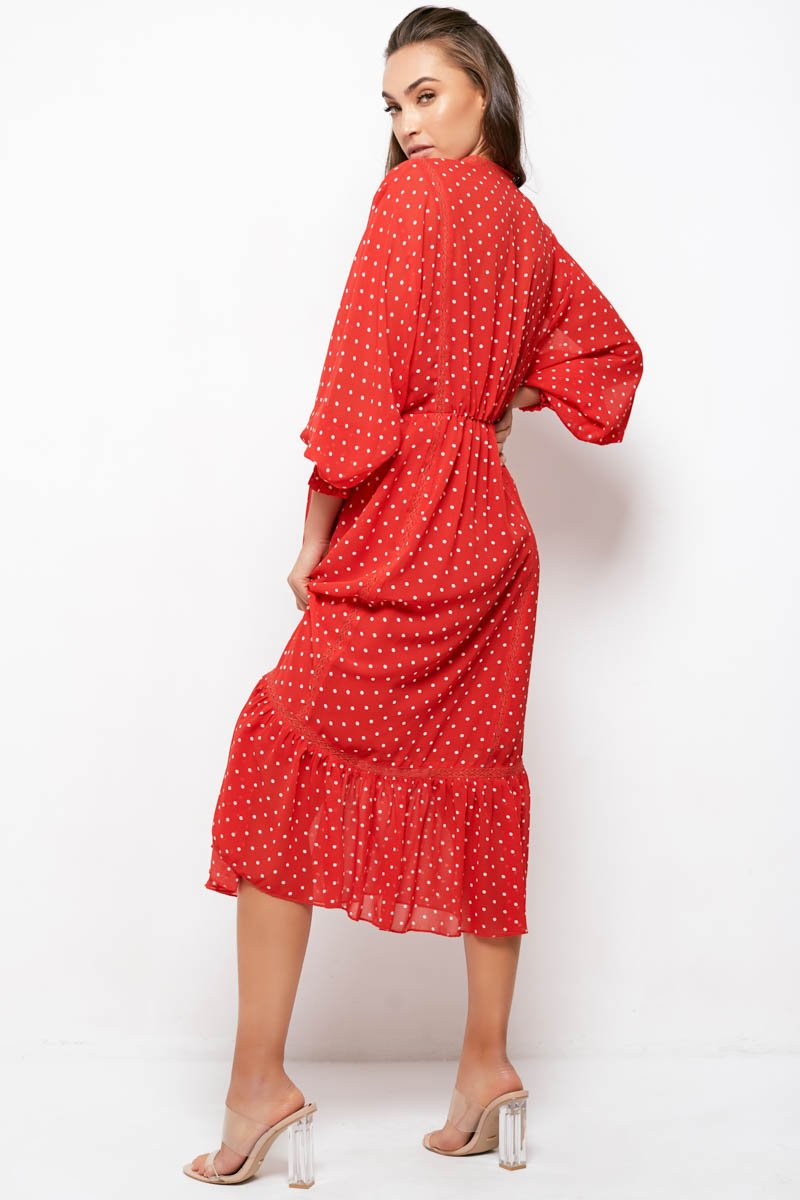 COCO DRESS - RED POLKA DOT