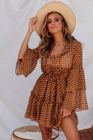 ROAR SET - BROWN - POLKA DOT