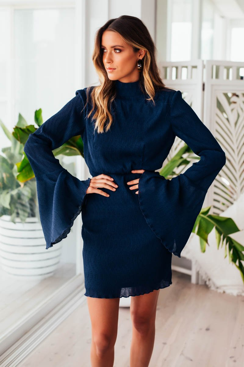 CYNTHIA DRESS - NAVY