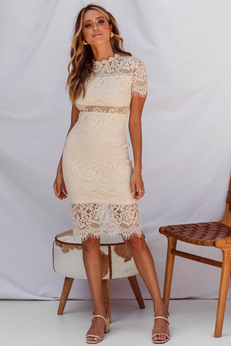 31234e9f4c2 SNDYS SPRING 2018 - DYLAN LACE DRESS - CREAM