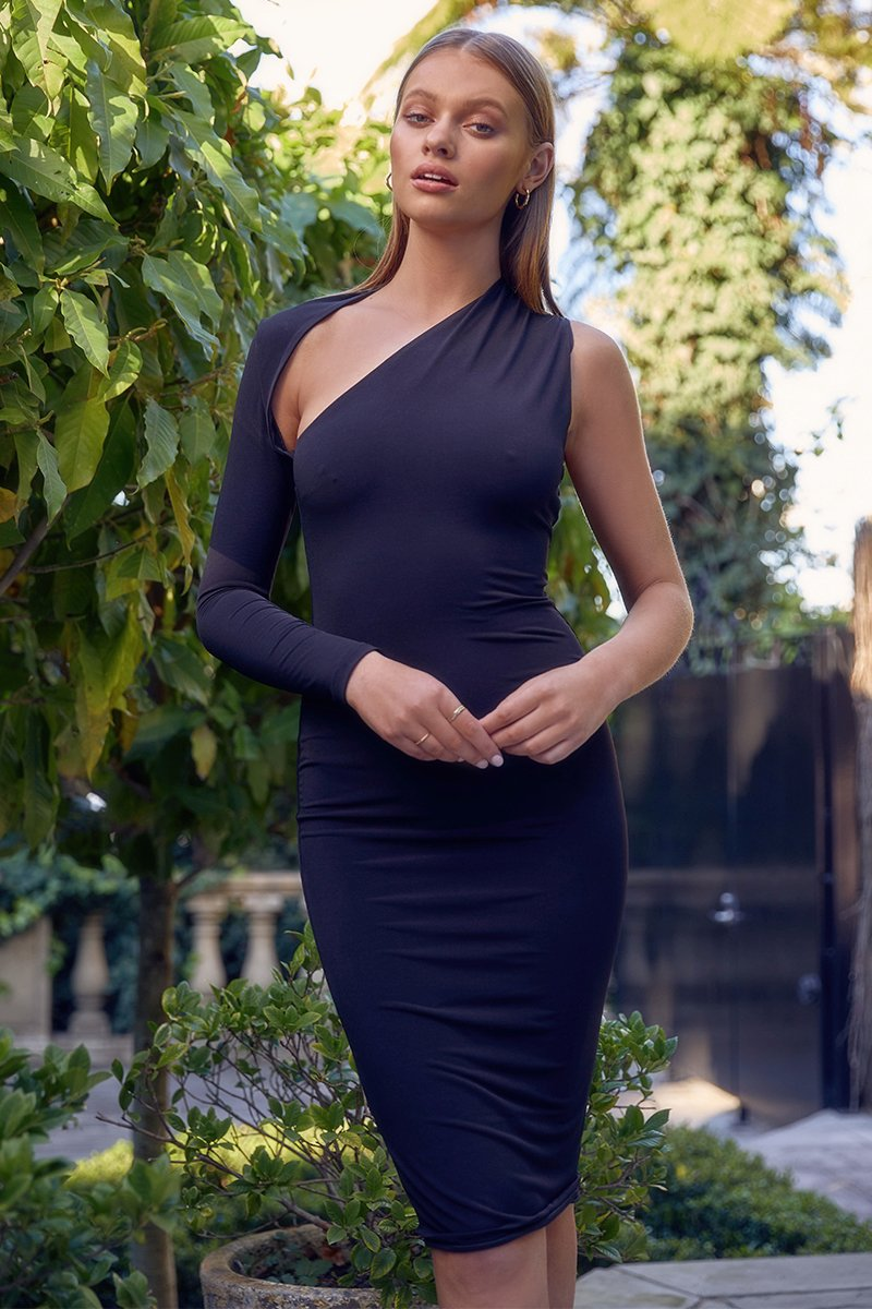 DANY MIDI DRESS - BLACK - PREORDER