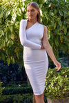 DANY MIDI DRESS - WHITE - PREORDER