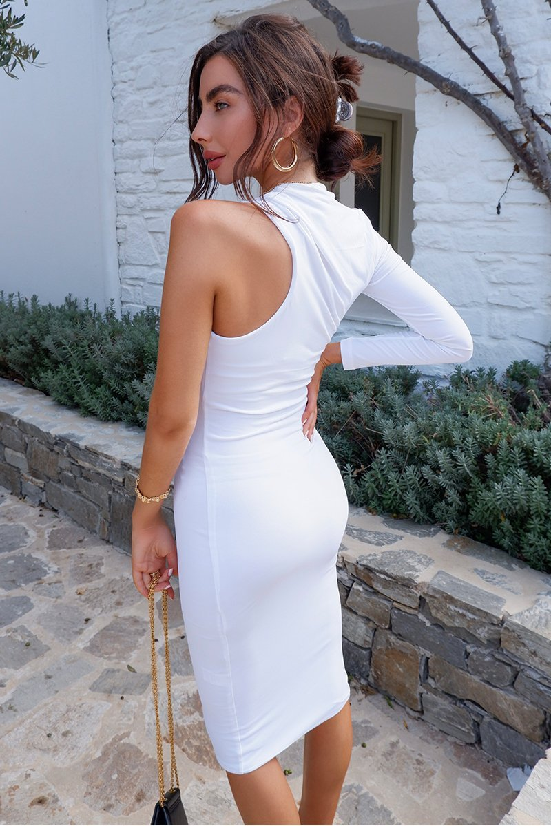 DANY MIDI DRESS - WHITE