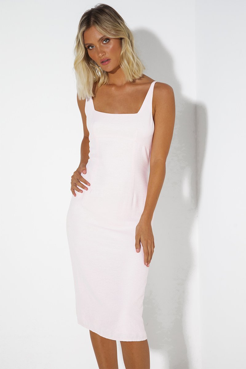 DIAMOND DRESS - PALE PINK