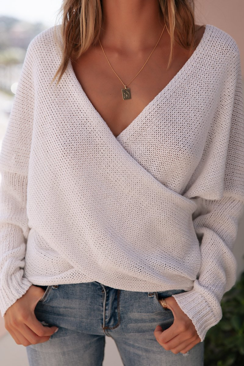 DOUBLE CROSS KNIT - WHITE