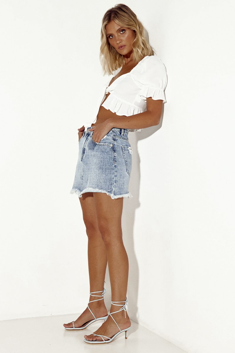 VALENTINA DENIM SKIRT